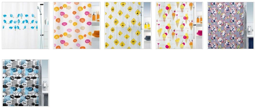 Полиэтиленовые (PEVA) шторки для ванной из числа новинок от Spirella 2016