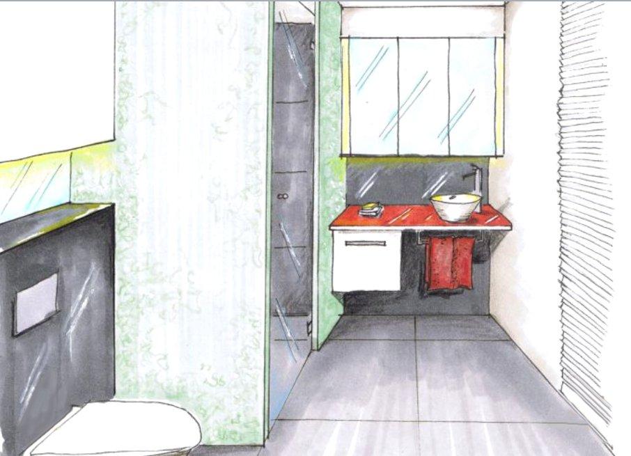 Как маленькие ванные комнаты могут выглядеть большими. Яркие пятна углубляют