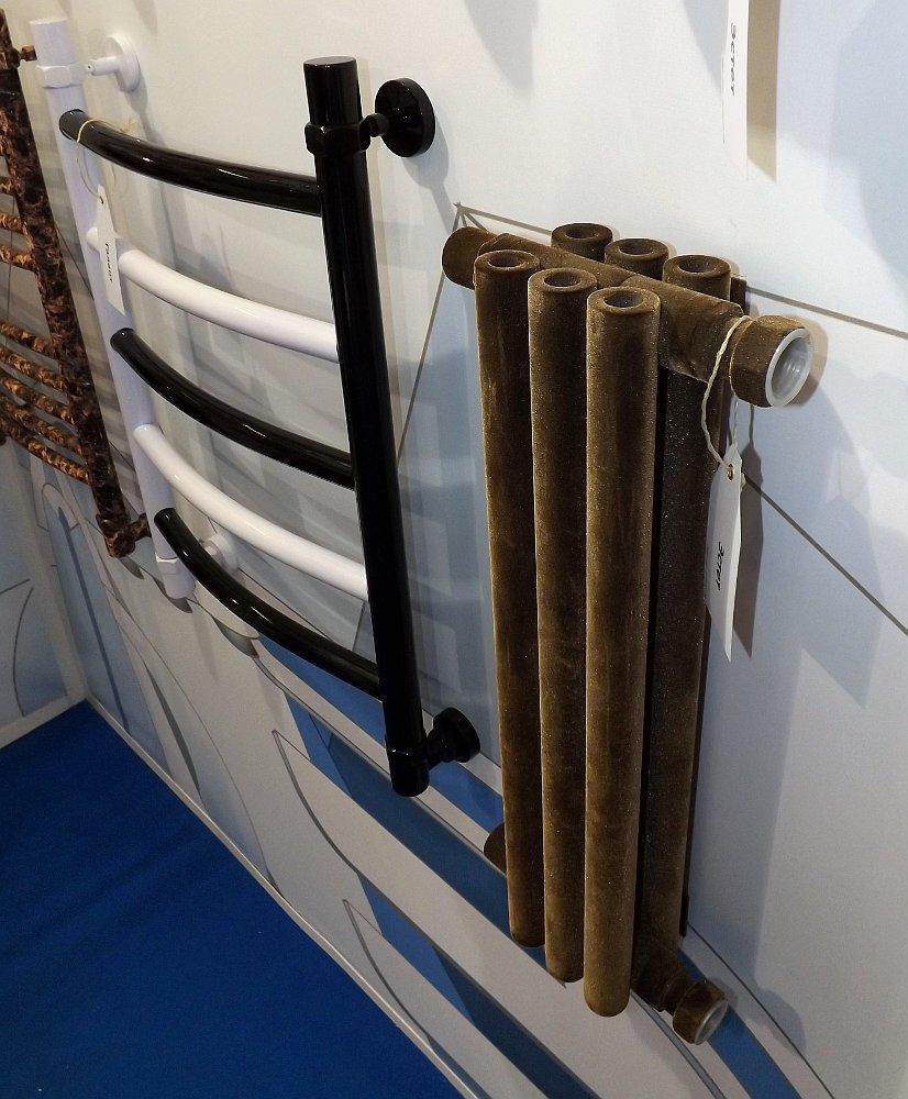 Полотенцесушители Сунержа на московской выставке МосБилд 2014. Декоративные решения — покраска и флокирование