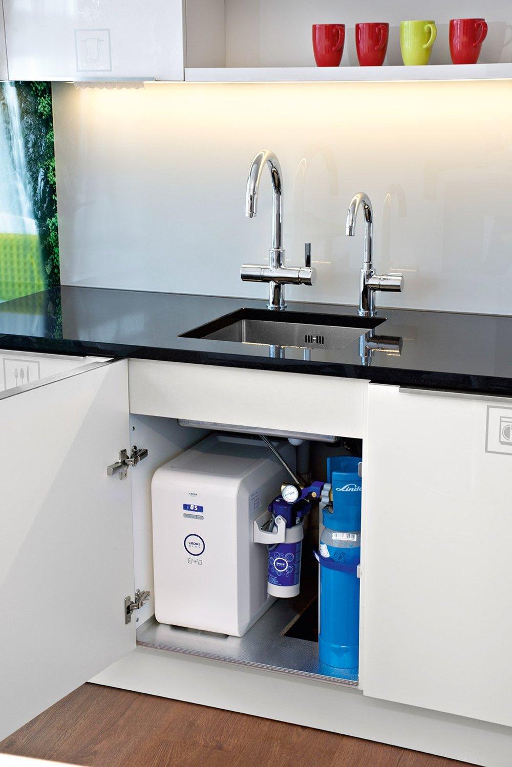 Кухонные смесители GROHE Blue® Chilled & Sparkling и Grohe Red для подачи холодной, газированной и горячей (закипающей) воды
