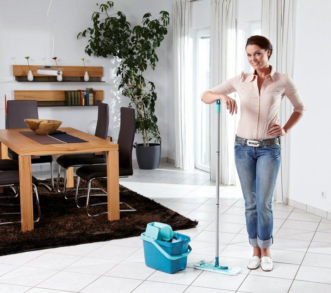 Швабра и ведро для влажной уборки от Leifheit