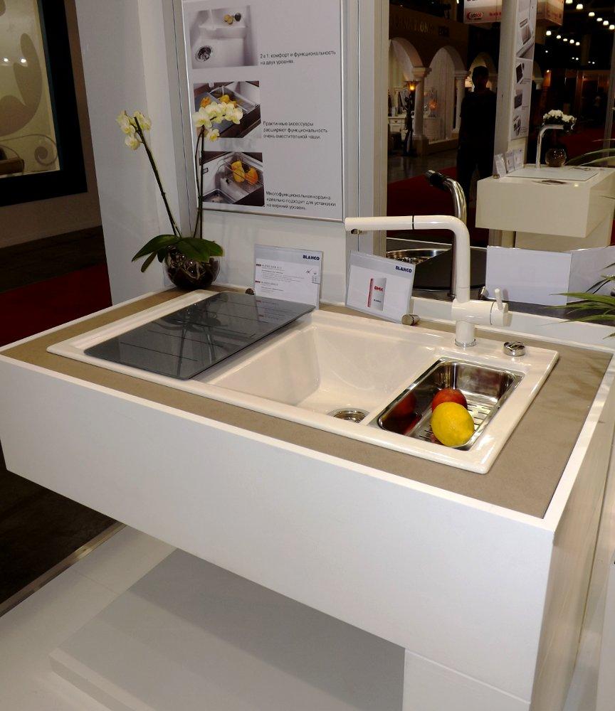 Кухонная мойка AXON 6 S и смеситель LINUS-S. Вид А