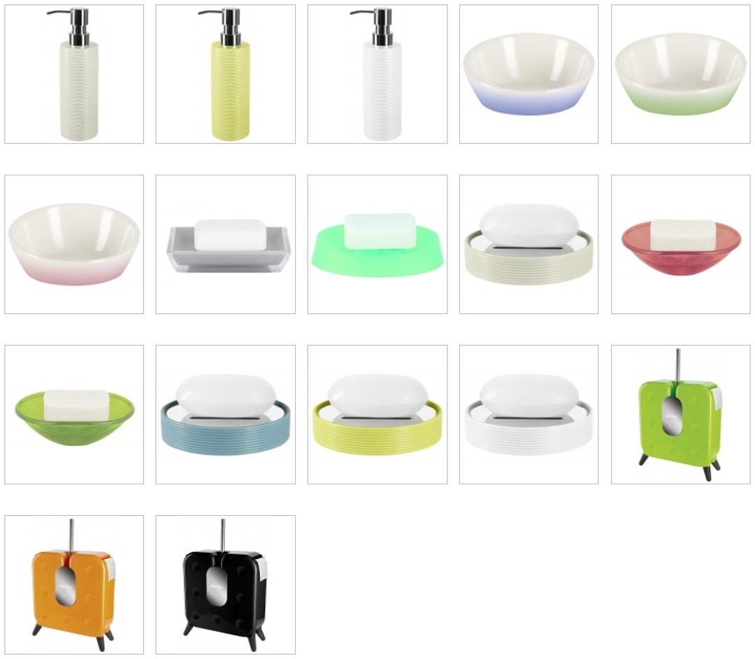 Дозаторы для жидкого мыла, мыльницы и блоки FREESTYLER для туалета (ёршик, туалетная бумага) из числа новинок от Spirella 2016