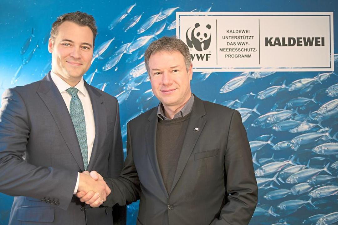 Франц Кальдевай из Franz Kaldewei GmbH & Co. KG и Кристоф Хайнрих из WWF