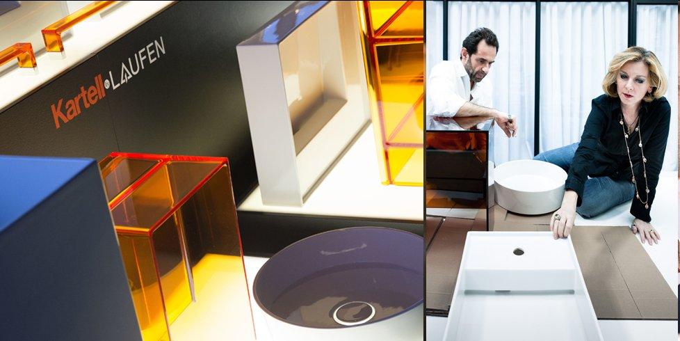 Элементы ванной комнаты от Laufen и Kartell и творческий дуэт дизайнеров Людовики и Роберто Паломба