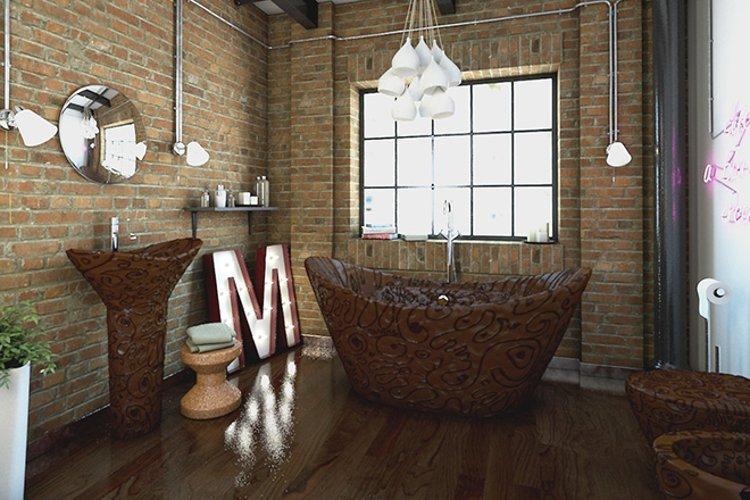 Шоколадная ванная комната: иллюстрация из проекта Bathroomsweets - вид А