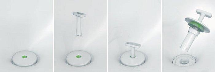 Писсуар безводный DuraStyle - схема замены сливного клапана
