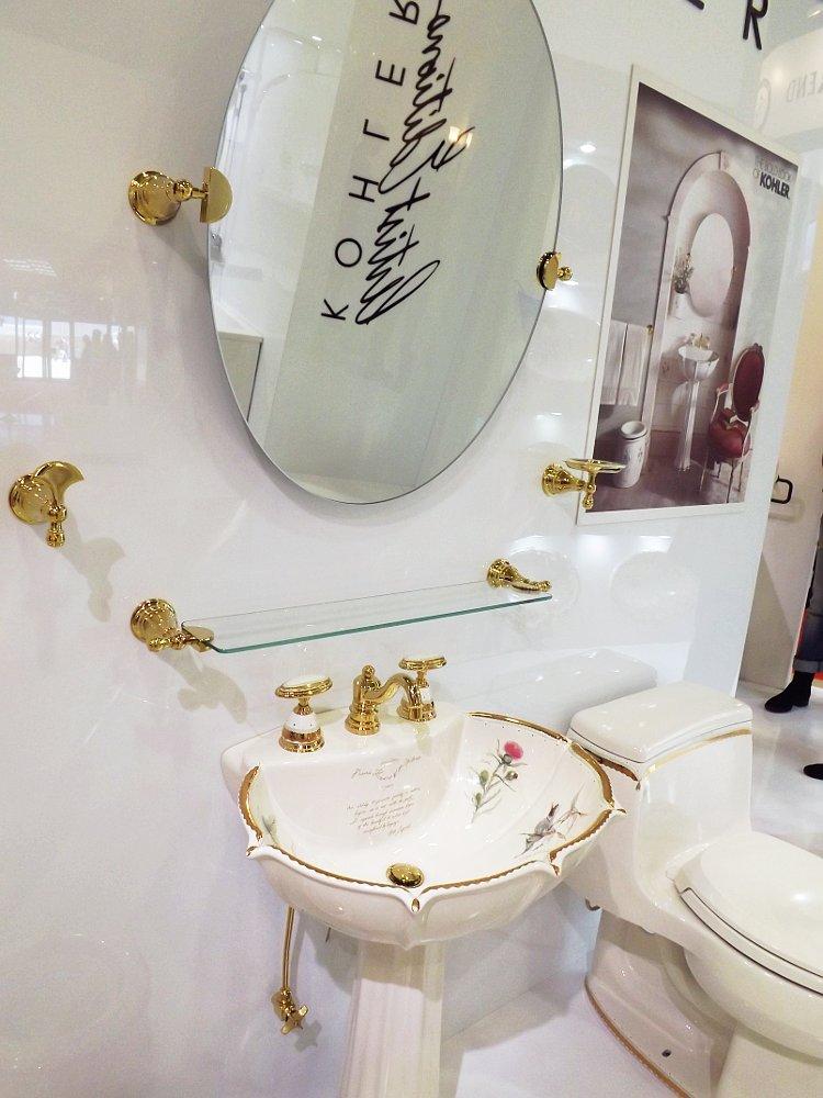 Керамическая раковина со смесителем Prairie Flowers от Kohler на выставке МосБилд 2014