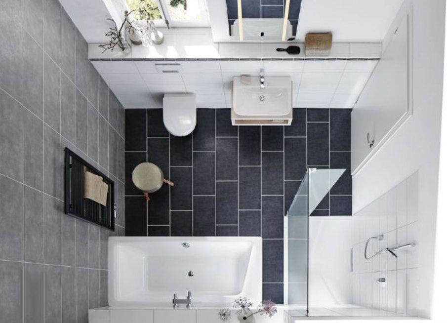 Как маленькие ванные комнаты могут выглядеть большими. Душевой уголок расширяет