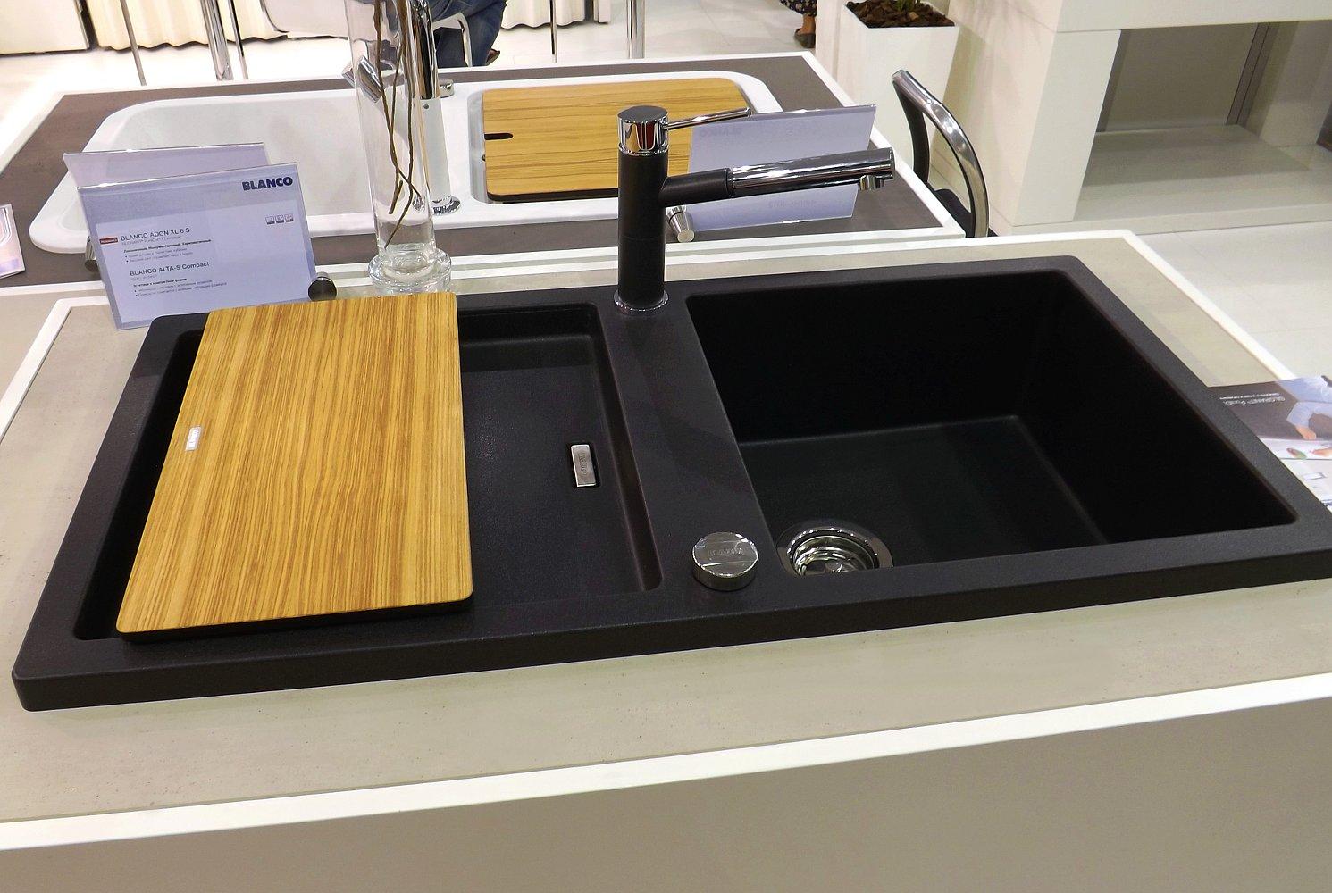 Кухонная мойка ADON XL 6S и смеситель ALTA-S Compact. Вид А
