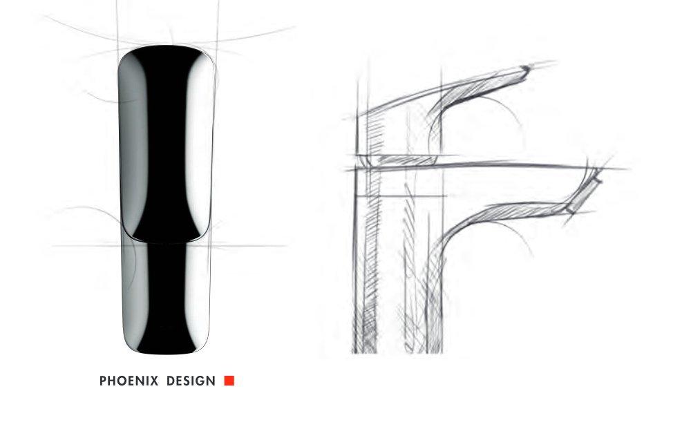 Визуализация процесса проектирования смесителя из коллекции Hansgrohe LOGIS