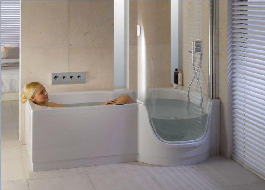 Как маленькие ванные комнаты могут выглядеть большими. Объединённая ванна с душевой - экономия места