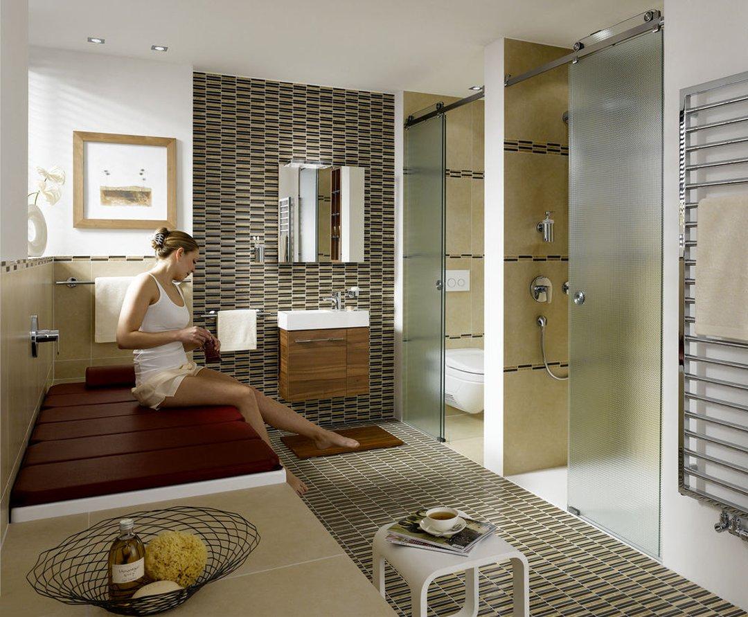 Вариант интерьера современной ванной по версии от Kaldewei