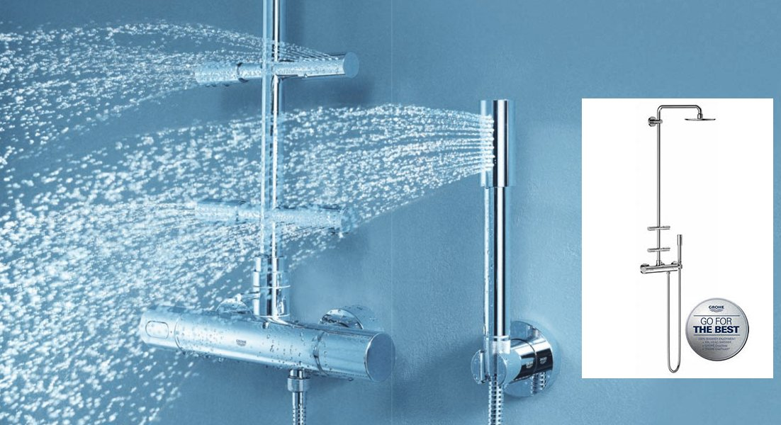 Душевая система с термостатом и боковыми душами Rainshower® System 210