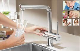 Система подачи и газации фильтрованной питьевой воды Grohe Blue® в интерьере