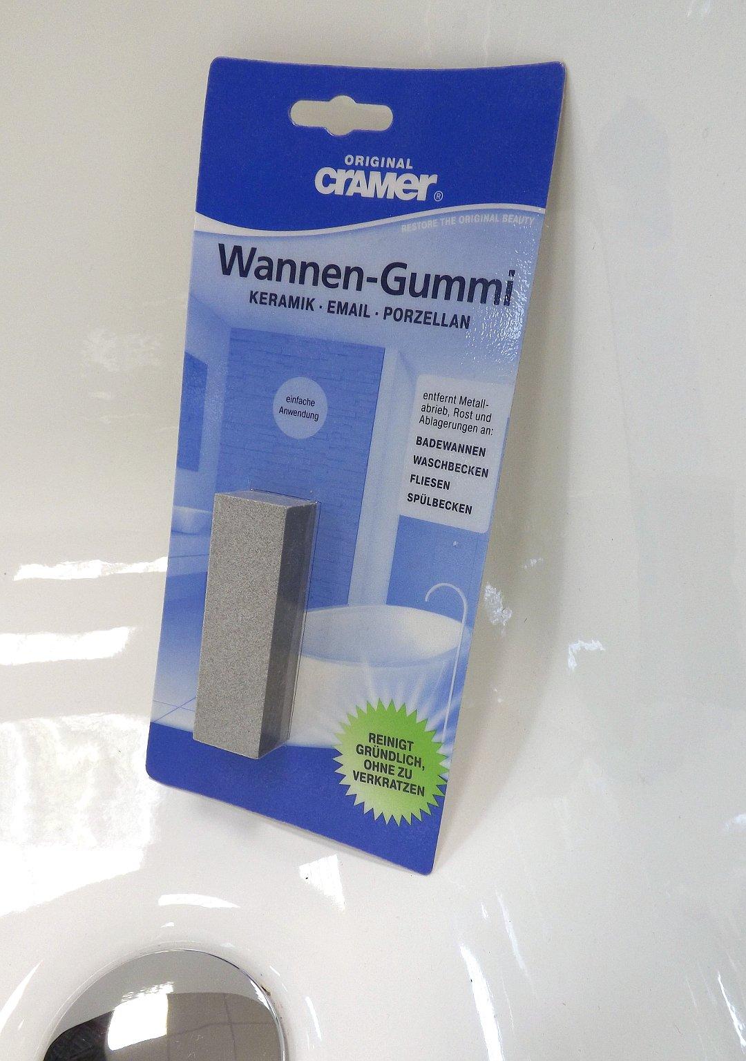 Ластик от Cramer для бережной и тщательной очистки керамических и эмалированных поверхностей ванн, поддонов и т.п. саноборудования