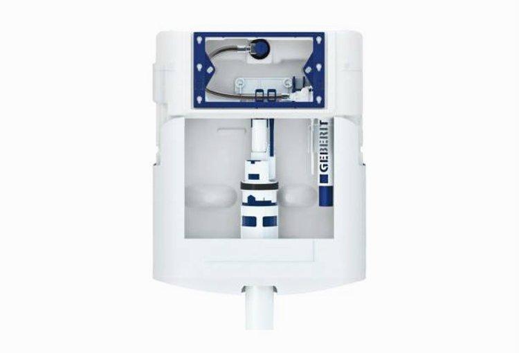 Оборудование для удаления запахов из чаши унитаза системой вытяжки Geberit DuoFresh