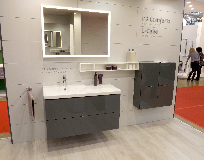 Мебель для ванной и зеркало L-Cube с раковиной P3 Comforts от Duravit на выставке МосБилд 2015