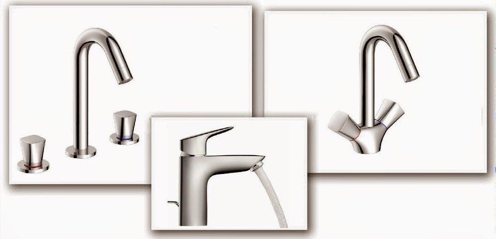 Однорычажные смесители, смесители с двумя рукоятками, и смесители, рассчитанные на три отверстия - из коллекции Hansgrohe LOGIS
