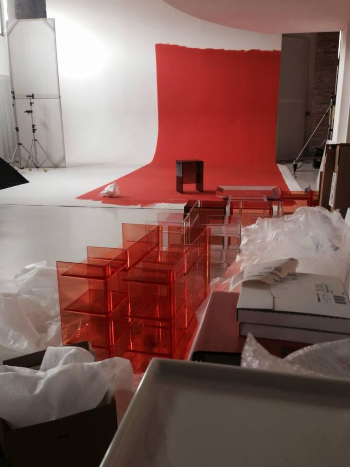 Подготовка выставочного стенда Laufen на выставке DEL MOBILE 2014 в Милане