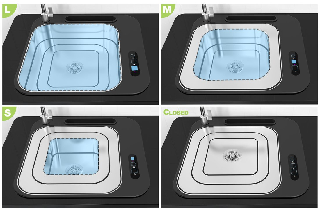 Кухонная мойка Lifting Sink: схема
