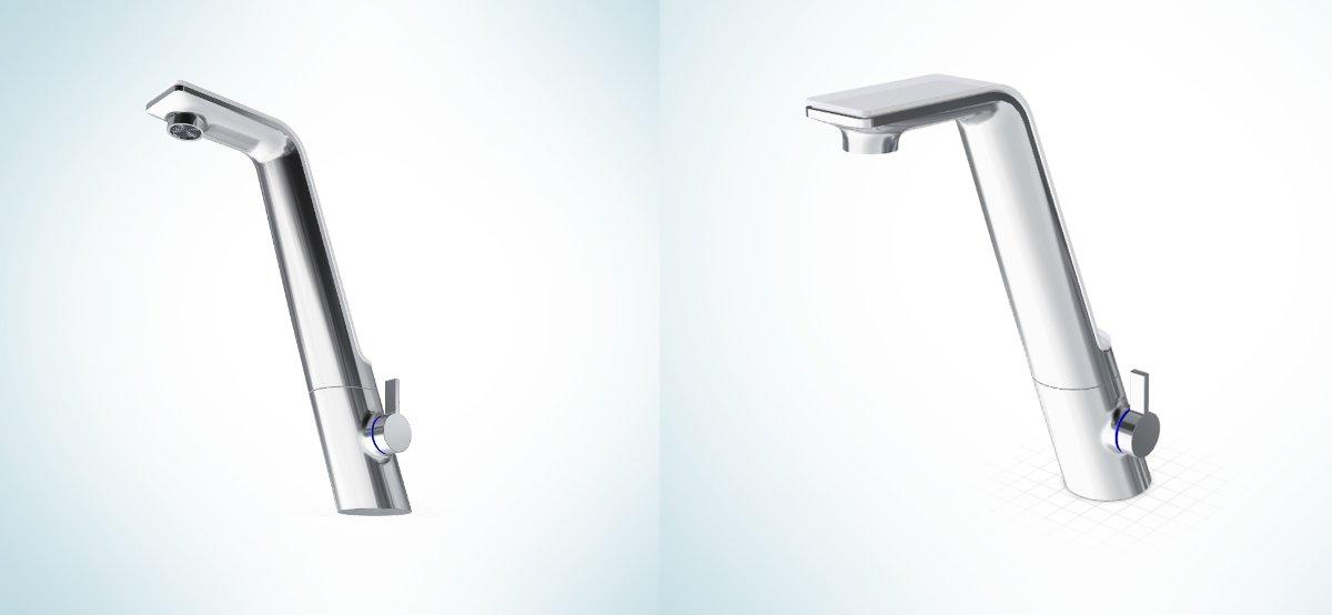 Проекции 3D-модели смесителя Oras SENSE для кухни