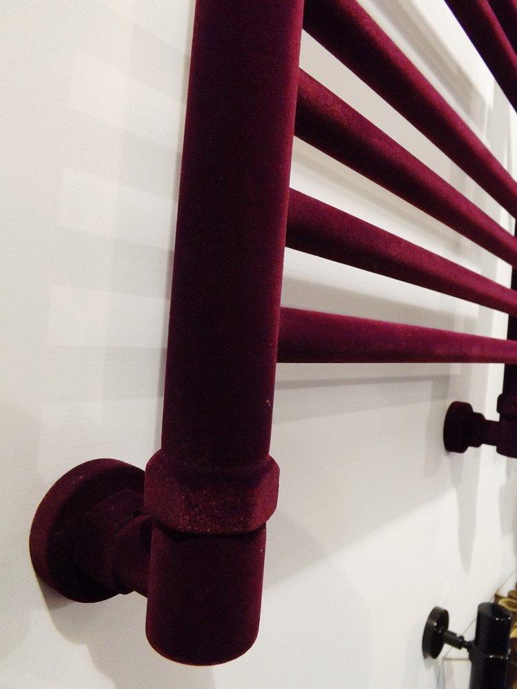 Полотенцесушители Сунержа на московской выставке МосБилд 2014. Декоративное бархатистое покрытие — флокирование