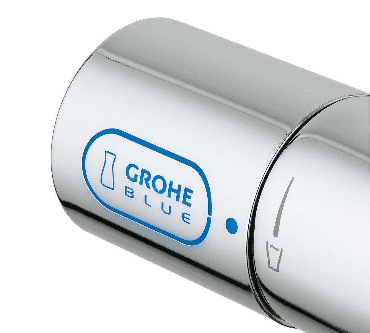 Рукоятка для переключения режимов подачи питьевой воды по отдельному шлангу в излив кухонного смесителя GROHE Blue® Chilled & Sparkling