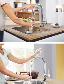 Кухонные смесители ZEDRA TOUCH и MINTA TOUCH от Grohe в интерьере