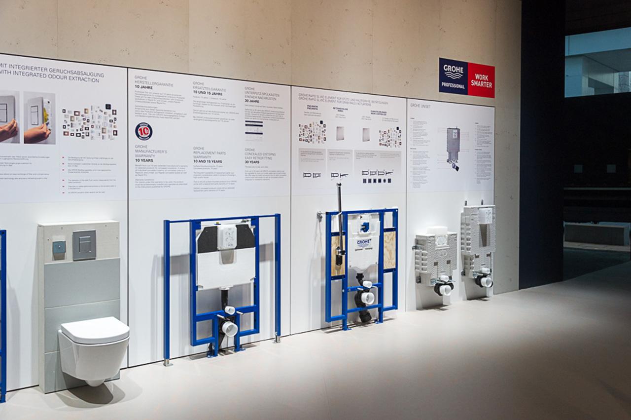 Сантехнические системы инсталляции от Grohe на выставке ISH 2015