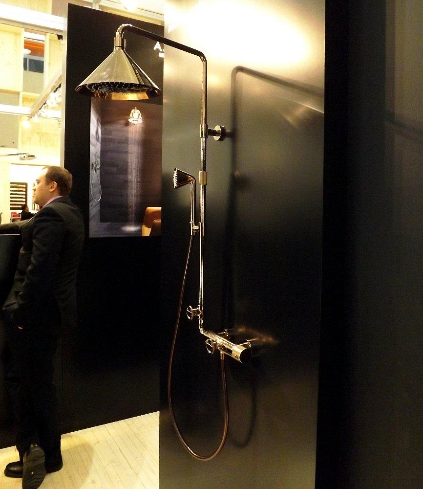 Душевая система Hansgrohe Axor ShowerPipe от Front на выставке MosBuild 2014
