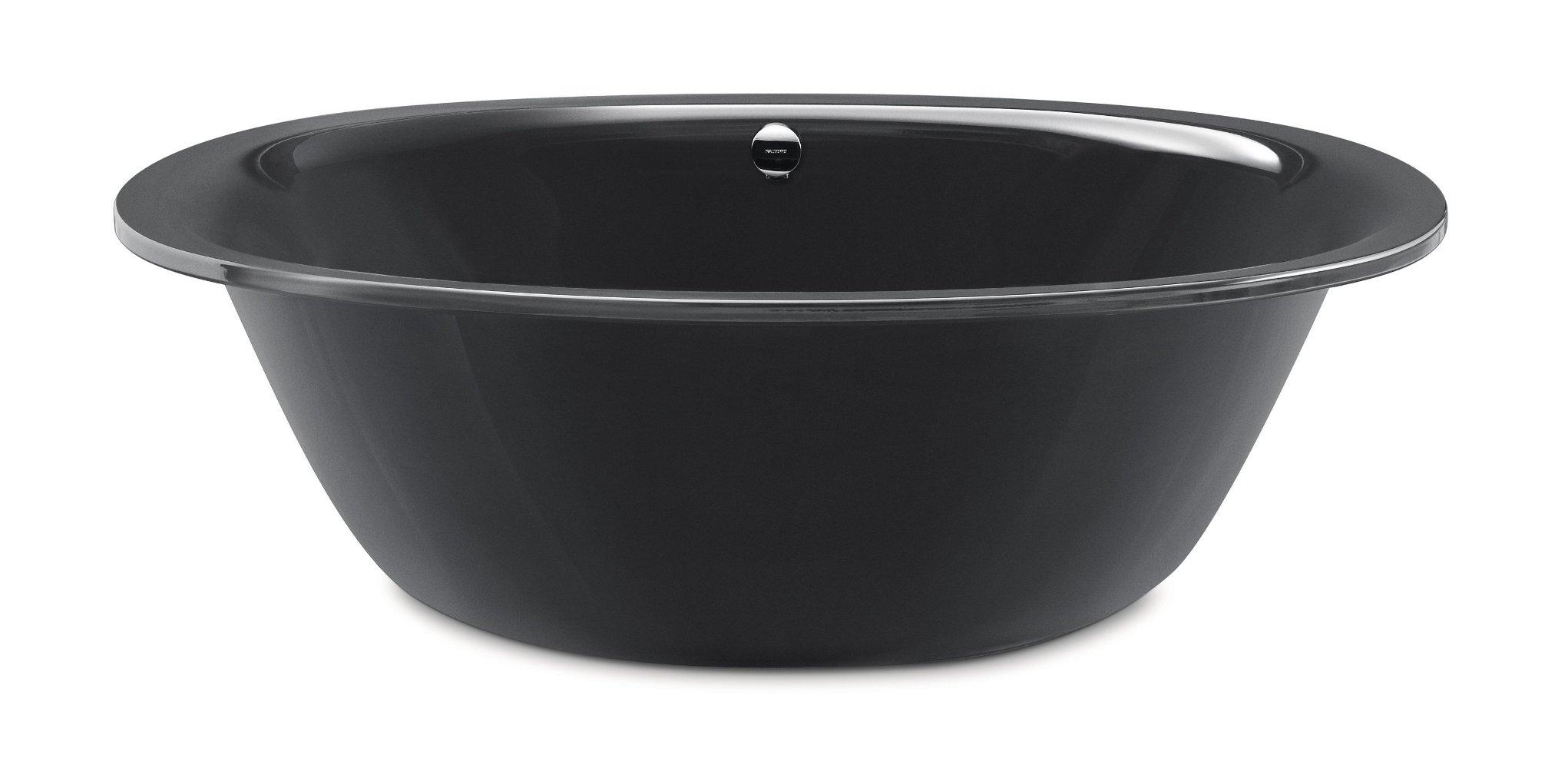 Чёрная стальная эмалированная ванна Kaldewei ELLIPSO