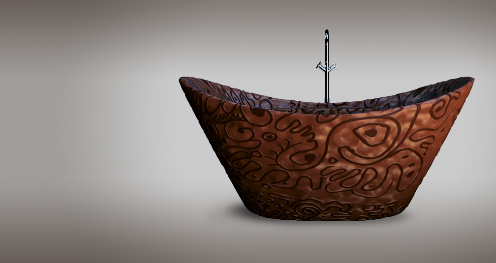 Шоколадная ванна: иллюстрация из проекта Bathroomsweets