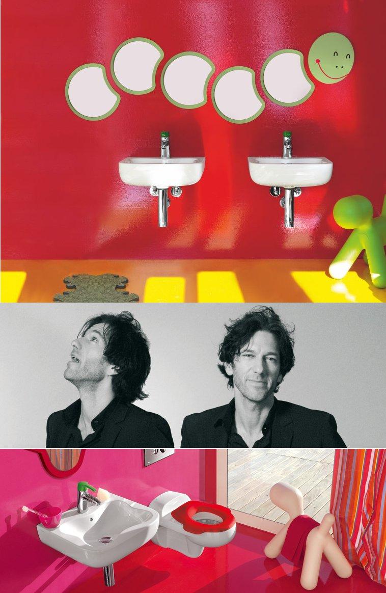Интерьеры детской ванной комнаты florakids от Laufen и их дизайнер Андреас Димитриадис