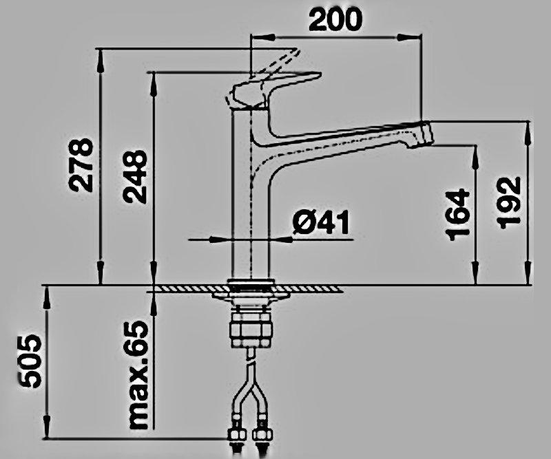 Размеры смесителя из коллекции Blanco Felisa-S 2014 года