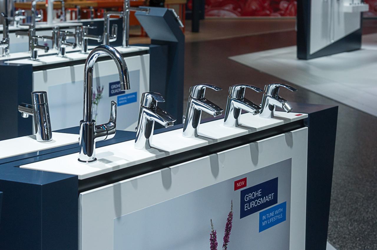 Новинки смесителей для ванной из серии EUROSMART от Grohe на выставке ISH 2015