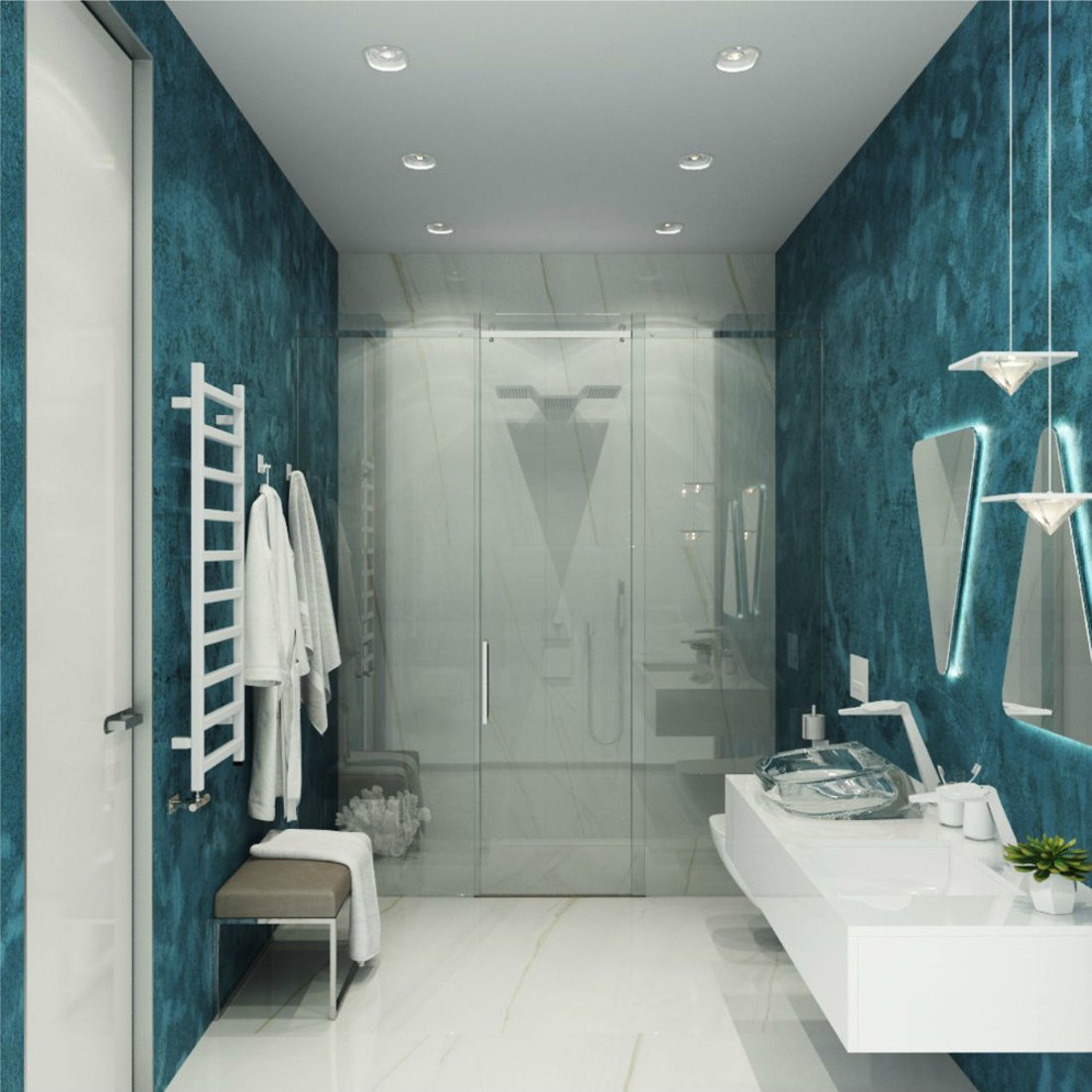 Верхний душ от KGN Design