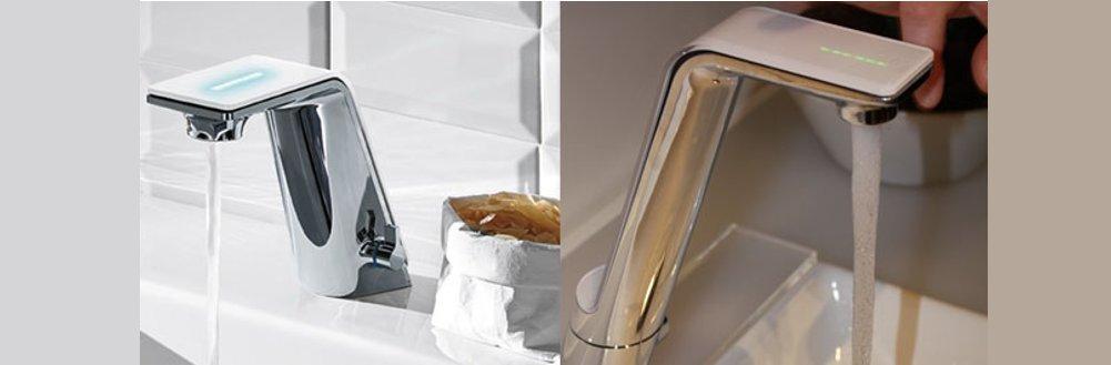Cмесители Oras SENSE для ванной (слева) и для кухни