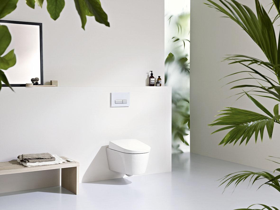 Сантехника Geberit на одном из рекламных снимков этого швейцарского бренда