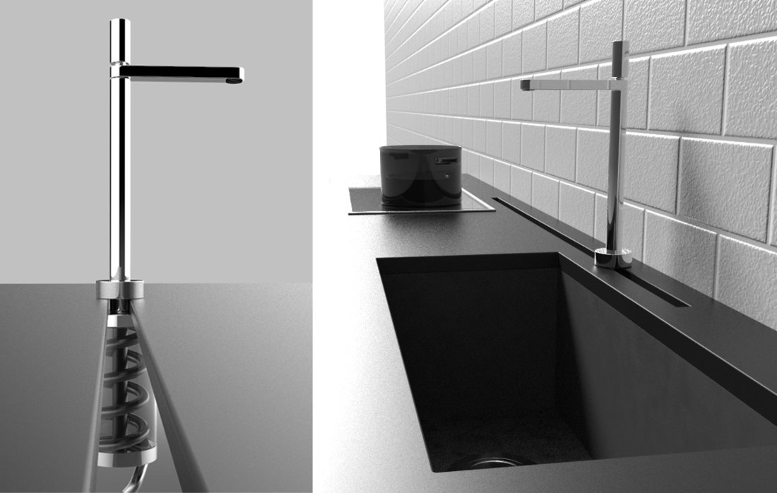 Кухонный смеситель Rail Kitchen Faucet