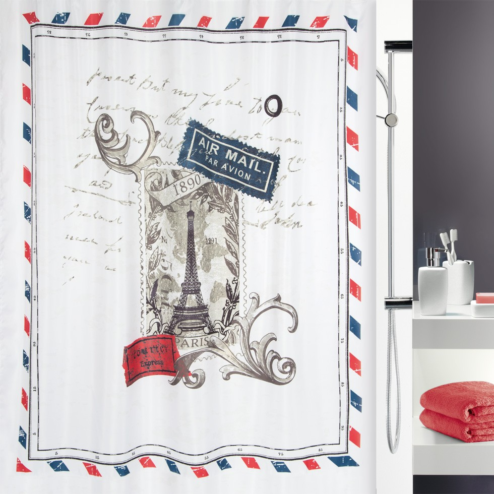 Штора для ванной комнаты 180x200см текстильная Spirella VARENNE