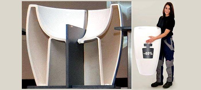Наглядные образы разницы между традиционной керамикой и SaphirKeramik