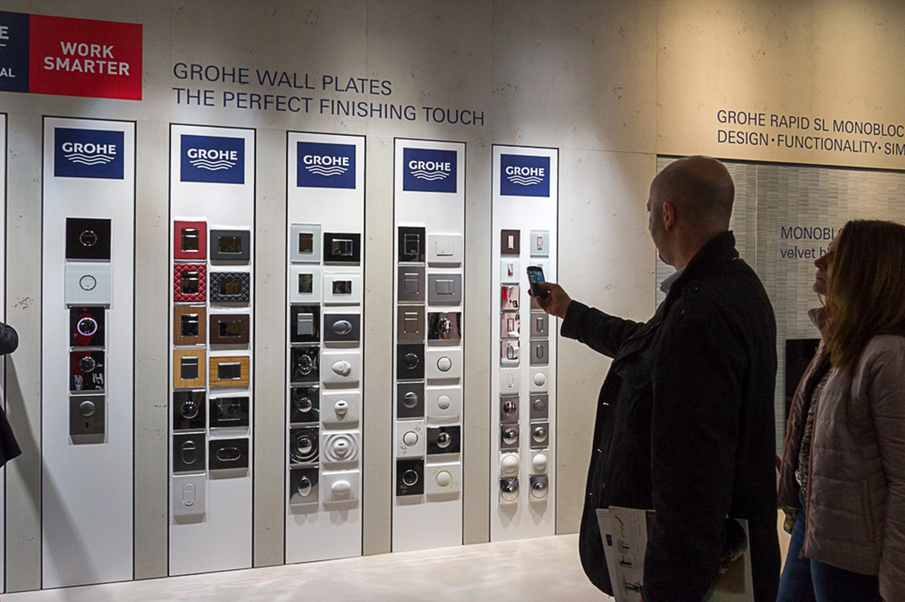 Клавиши смыва от Grohe на выставке ISH 2015