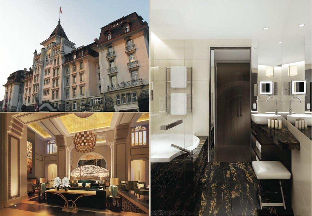 Отель Royal Savoy в Лозанне (Швейцария) и ванна Duo Pool с самоочищающимся покрытием Perl-Effekt от Kaldewei в интерьере одного из номеров