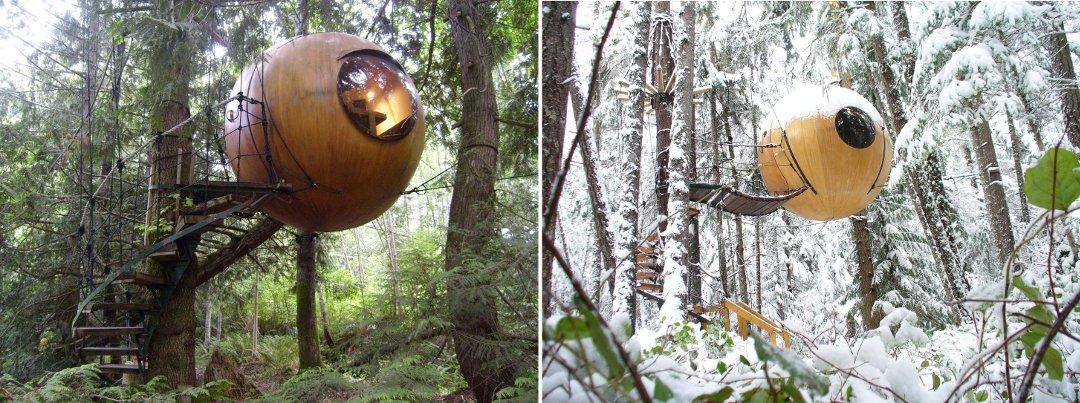 Строения глэмпинг-проекта Free Spirit Spheres